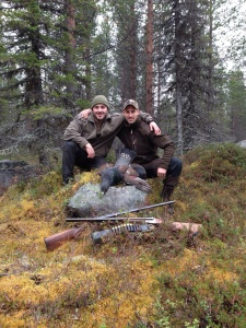 Small game hunters in Sweden