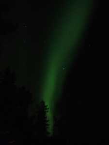 Northern Lights over Auktsjaur in Swedish Lapland