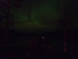 The sauna under the Northern Lights