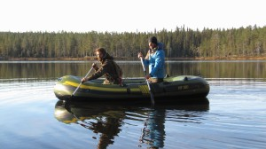 Fishing in the Swedish wilderness