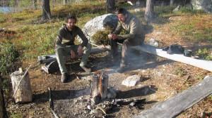 Swedish torch in Swedish Lapland